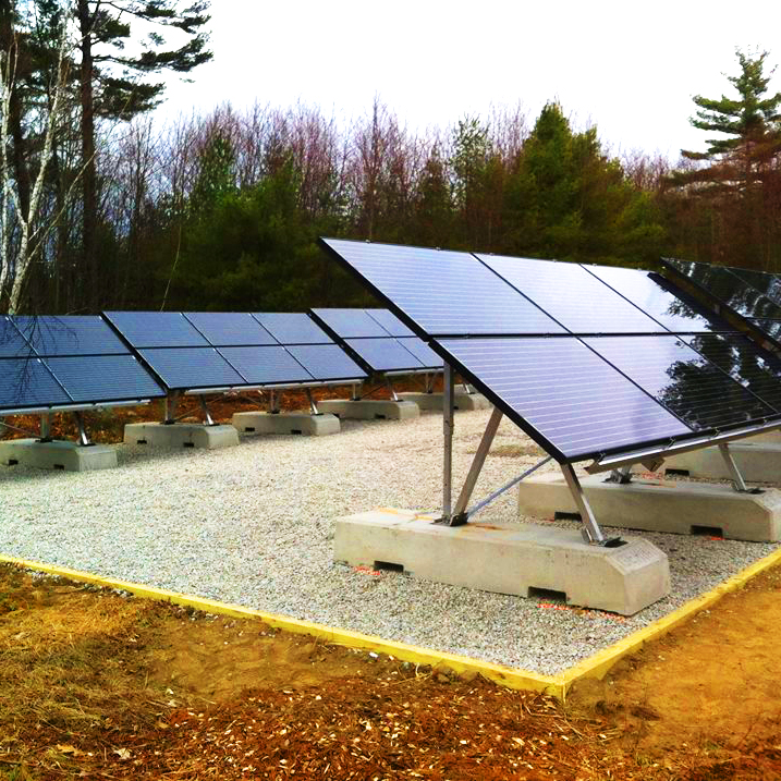 A Photo Of Residential Solar Panels In Bellingham, MA - Mass Renewables Inc.