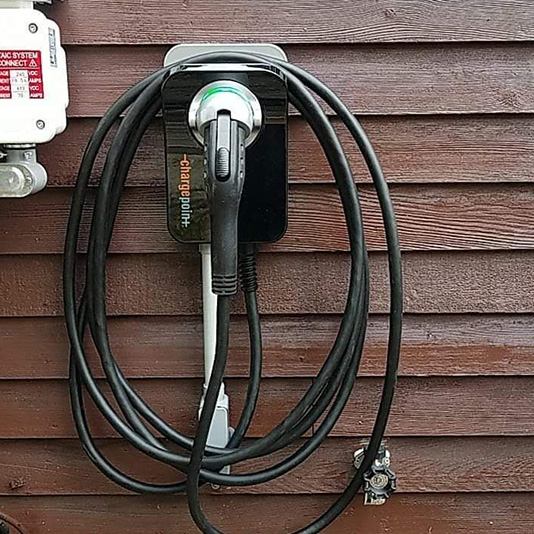 A Picture of EV Charger Installation In MA - Mass Renewables Inc.