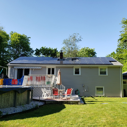 A Picture of Roof Mount Solar Panel Installation In Dighton, MA - Mass Renewables Inc.