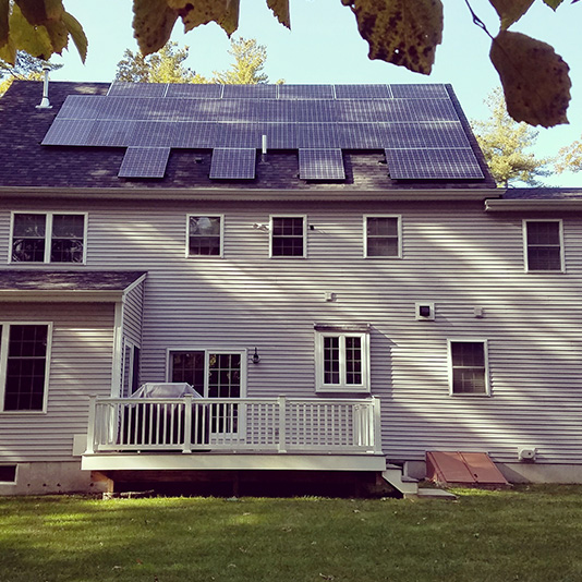A picture of Roof Mount Solar Panel Installation In Foxboro, MA - Mass Renewables Inc.