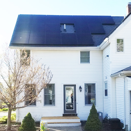 A Picture of Roof Mount Solar Panel Installation In Franklin, MA - Mass Renewables Inc.