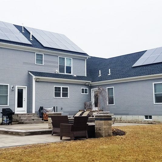 A Picture of Roof Mount Solar Panel Installation In Rehoboth, MA - Mass Renewables Inc.