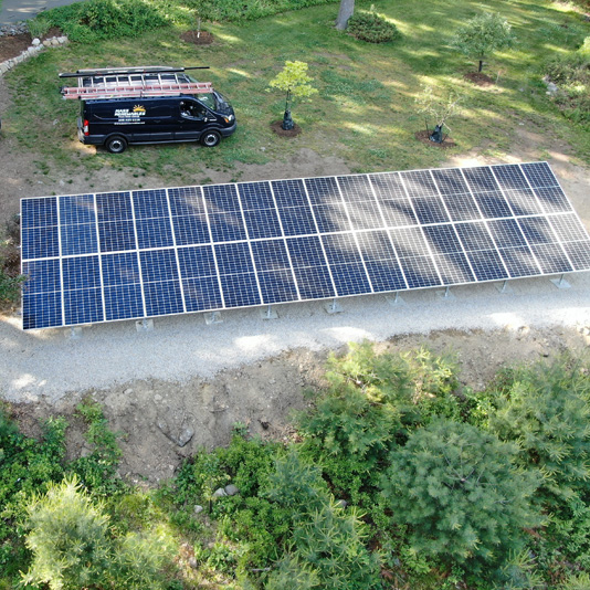 A Picture of Ground Mount Solar Panel Installation In Sothboro, MA - Mass Renewables Inc.